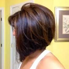 partial hi light dark short hair cut inverted bob with side swept fringe though hate those long