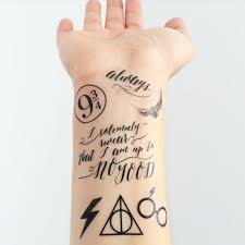 mini harry potter temporary tattoos geeky gamers pinterest