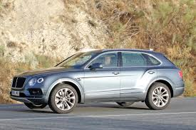 suv bentley 2017 price first diesel bentley hits the road bentayga tdi spotted by car