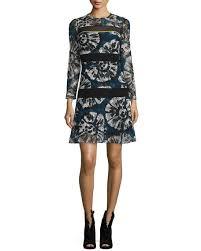 burberry macrame stripe tie dye shift dress