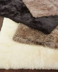 How To Make A Faux Fur Rug Animal Rugs Cowhide U0026 Zebra Rugs At Neiman Marcus Horchow