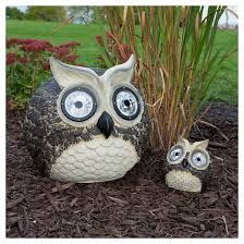 baby solar garden pal owl set 12 and 5 led smart