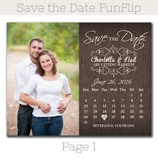 rustic save the dates rustic calendar save the date magnet funflip the print cafe
