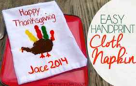 easy handprint thanksgiving napkin craft