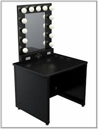 makeup vanity table with lighted mirror home furnishings