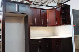 Brown And White Kitchen Cabinets Furniture Surprising Pine Wood With Finished Espresso Kitchen