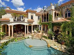 Florida Mediterranean Style Homes - this mediterranean mansion is situated on an acre of property at