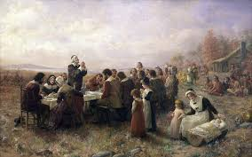 historic painting the thanksgiving by jennie augusta