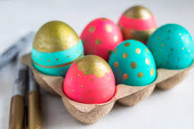 metallic easter eggs metallic sharpie easter eggs are a easy chic craft for kids