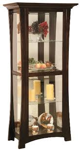 Beveled Glass China Cabinet Amish Home Place Handcrafted Dining Furniture China Cabinet Curio