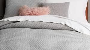 Duvet Covers Grey And White Ribbon Trim Duvet Cover Sham Pbteen For Modern House White And