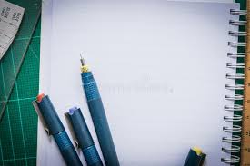 le stuoie le stuoie di taglio la carta disegni a penna regolano lo