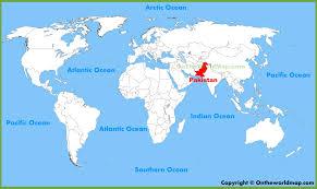 world map pakistan karachi pakistan location on the world map