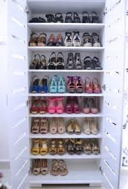 Shoe Closet With Doors Large Shoe Cabinet Foter