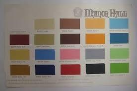 vintage 1950 u0027s 60 u0027s manor hall paint chip sample chart interior
