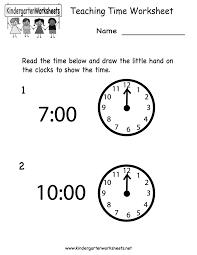 Teachers Printable Worksheets Teaching Time Worksheet Free Kindergarten Learning Worksheet For