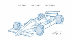 drawn vehicle formula 1 pencil and in color drawn vehicle formula 1