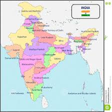 Map Of India by Political Map Of India With Spices Stock Image Image 20474441