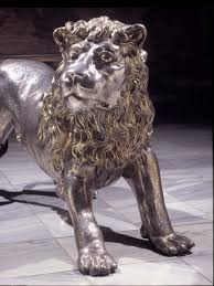 silver lion statue three silver lions the royal collection