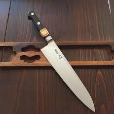 sakai kikumori 210mm gyuto u0027nihonkou u0027 carbon steel bernal cutlery