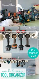 diy power tool organizer quick and easy tutorial remodelaholic