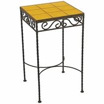 Iron Side Table Wrought Iron Side Tables Mexican Talavera Tile Tops
