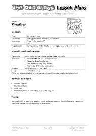 weather esl kidstuff