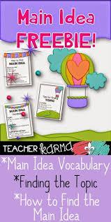 152 best main idea images on pinterest main idea teaching main