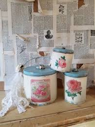 farmhouse canister set cottage chic decorative canister set tin