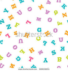 colorful letter pattern on white background stock vector 605415902