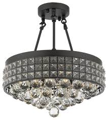 Crystal Sphere Chandelier Semi Flush Mount French Empire Crystal Chandelier With 40 Mm