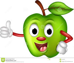 funny green apple cartoon royalty free stock photography image