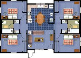 four bedroom stadium place four bedroom floorplan fort hays state