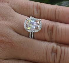 morganite engagement ring white gold 14k white gold 10x8mm morganite engagement ring and