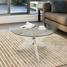 acrylic and glass coffee table furniture of america leras contemporary clear acrylic glass top
