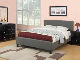 Low Bed by Bed Frame Rectangle Grey Leather Low Bed Frames Queen With Short