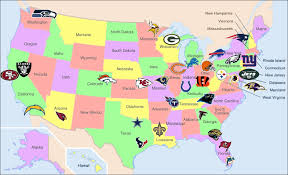 Geography Map Of Usa by Map Of Usa Nfl Teams Map Of Usa State