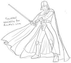Drawn Darth Vader Lined Pencil And In Color Drawn Darth Vader Lined Darth Vader Coloring Pages