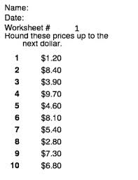collection of solutions rounding money worksheets on free