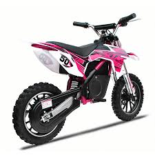 kids 50cc motocross bikes new xtreme 36v 500w xtm dirt bike in pink with lithium batteries