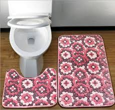 toilet rugs mats aliexpress 2pcs mesh thicken c fleece floor bath