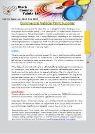commercial vehicle paint supplier