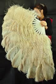 ostrich feather fans wheat xl 2 layers ostrich feather fan burlesque dancer friends 34