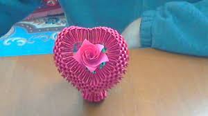 how to make a 3d origami heart youtube