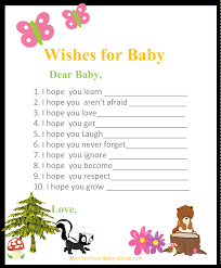 free printable woodland themed baby shower wishes for baby