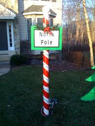 Outdoor Christmas Decorations Signs by North Pole Christmas Decoration 3 Steps