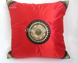 red happy cushion covers for sofa chair car cheap chinese style