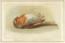 images of victorian christmas cards why are there dead birds on victorian christmas cards