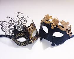 masquerade masks for couples couples masquerade mask etsy