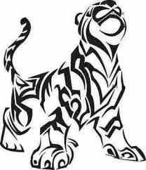 tiger tribal design tattoos style